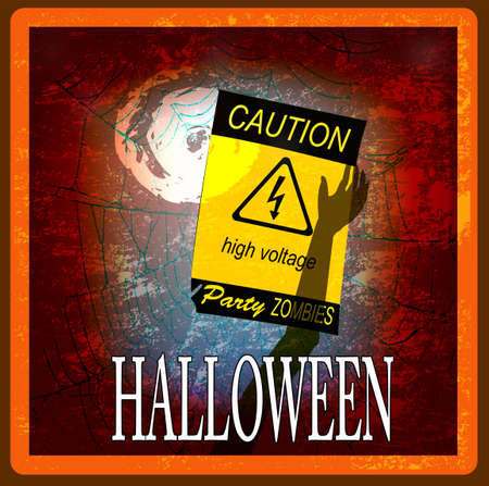 Halloween  Zombie Party  Poster  Vector Vector
