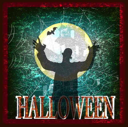 Happy Halloween Poster  Vector card Vector