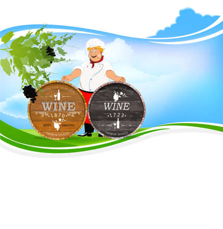 winemaking: Best wine grape Winemaking Agriculture Illustration