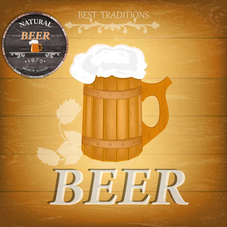 Beer  Best Family Traditions   Pub culture Vector