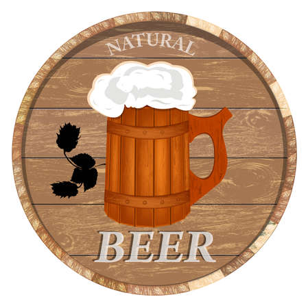 hogshead: Best traditional fresh cold Beer Vector
