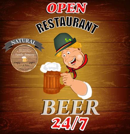 Best traditional fresh cold Beer Restaurant menu Vector Vector