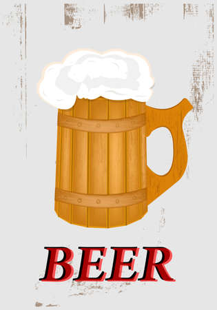 hogshead: Best traditional fresh cold Beer  Restaurant menu  Vector