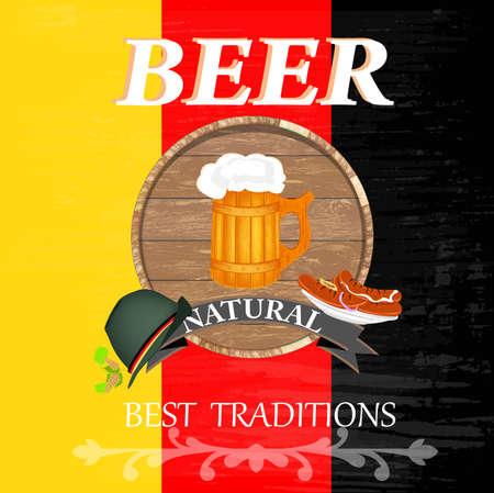 deutsch: Best traditional fresh cold Deutsch Beer  Vector