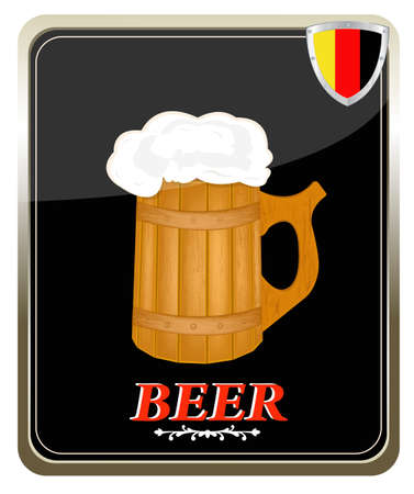 Best traditional fresh cold Beer Label  Vector Vector