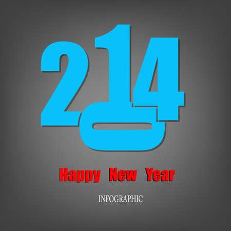 Creative Happy New Year 2014 Infographic Calendars Vector Stock Vector - 22951385