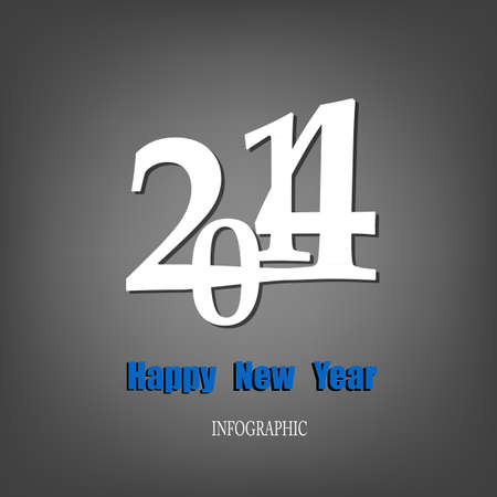 Creative Happy New Year 2014 Infographic Calendars Vector Stock Vector - 22951466