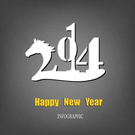 Creative Happy New Year 2014 Infographic Calendars Vector Stock Vector - 22951570