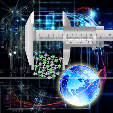 Science abstract technology Globalization background  photo