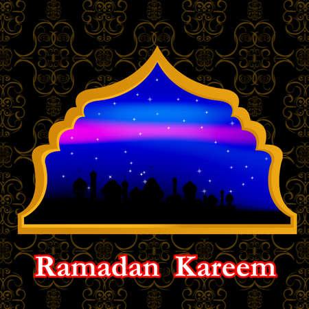 iftar: Eid abstract background Ramadan Kareem Vector Illustration