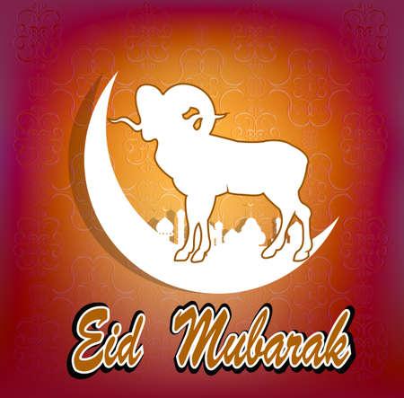 al: Festival of sacrifice Eid Al Azha or Eid Al Adha Ramadan Kareem Vector Illustration