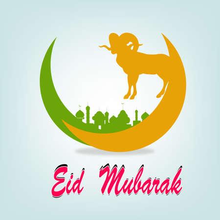 Festival of sacrifice Eid Al Azha or Eid Al Adha Ramadan Kareem Vector Illustration