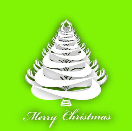 Abstract paper Christmas Tree Template Eve Background Vector Vector