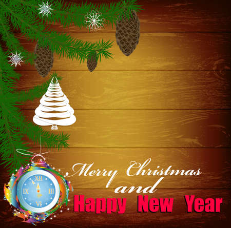 Creative New Year card Christmas Eve  Vector  Vector