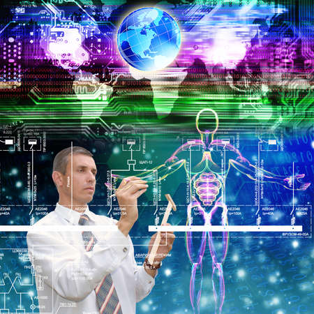 Programming computers cloning people future Genetic concept