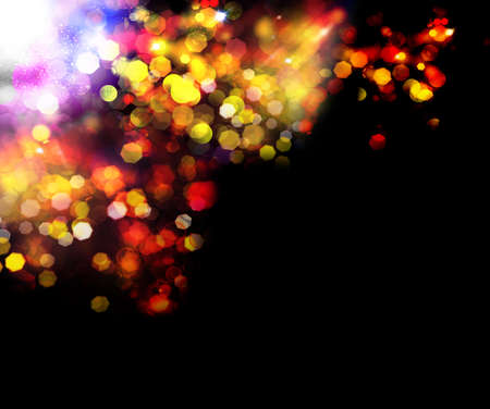 Abstract background Holiday Party  Golden Abstract Backdrop with Lights photo