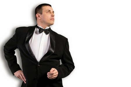 Fashion Men in Classic Tuxedo photo