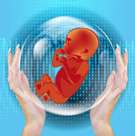 clonacion: Clonaci�n Gente Futuro Gen�tico Foto de archivo