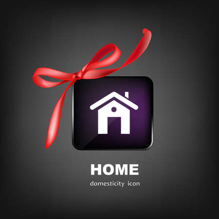 happiness concept: Home for Family Business Design Happiness Concept Vector