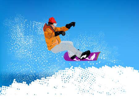 Extreme Snowboard illustration  illustration