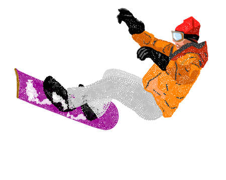 Extreme Snowboard Vector