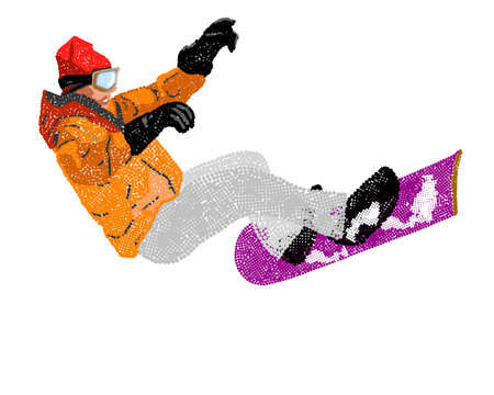 Extreme Snowboard illustration illustration