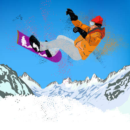 Freestyle Mountain Sci Extreme Snowboarding Sport invernale