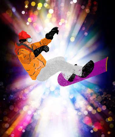 Freestyle Skiing Mountain skiing Extreme Snowboarding   photo