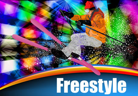 Sport  Ski  Extreme Freestyle Skiing  Snowboarding  Vector  Vector