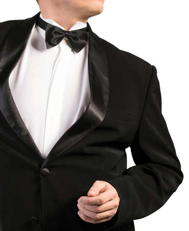 specific clothing: Classical Black Tuxedo Stock Photo