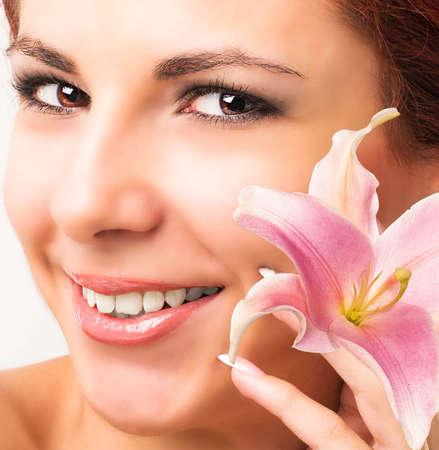 Beauty Portrait Clean Skin Face  Beautiful Spa Woman  photo