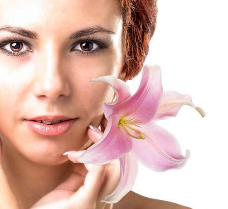 Beauty Portrait Woman Clean Skin Face photo