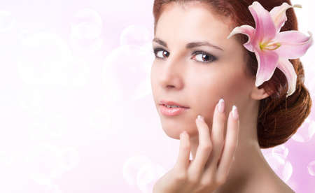 Beauty Girl Portrait  Beautiful Spa Woman Spa Salon photo