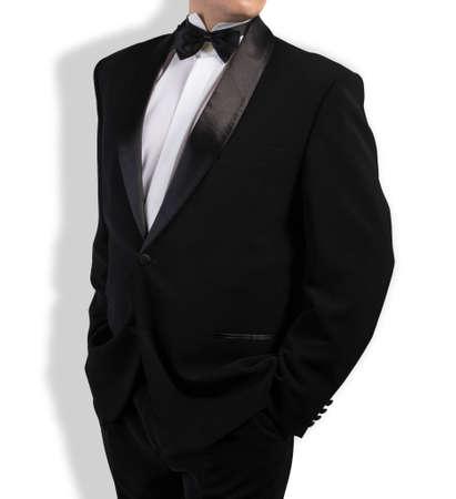 lazo negro: Clásico Negro Tuxedo pajarita Foto de archivo