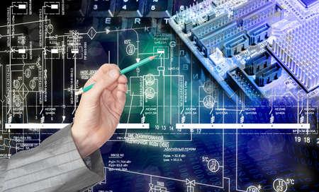Generation computer technology Stock Photo