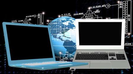 computer generation: Generation computer technology Stock Photo