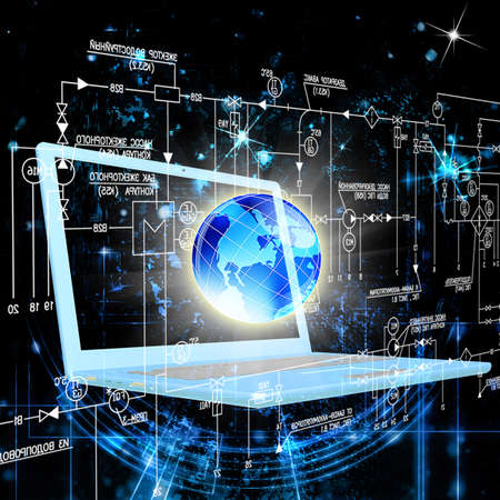 newest: The newest Internet technologies in the field of space research Stock Photo