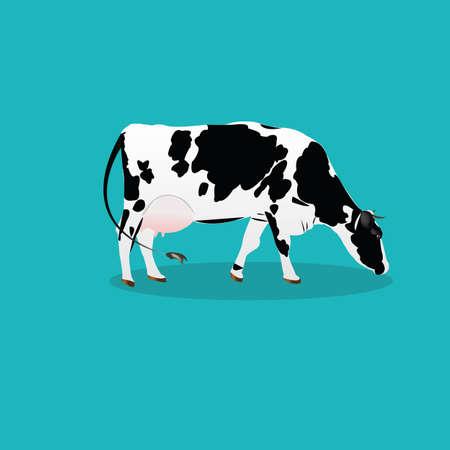 vaca: icono Cow.Vector