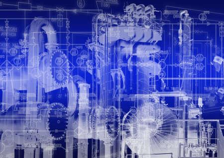 ingenieria industrial: tecnología de la ingeniería industrial Foto de archivo