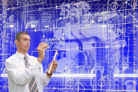 ingenieria industrial: potencia industrial la tecnología de la ingeniería de fabricación Foto de archivo