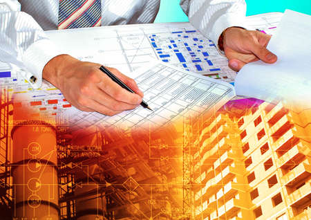 designing: Engineer architect.Construction designing
