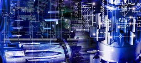 manufacturing kinematic background Standard-Bild