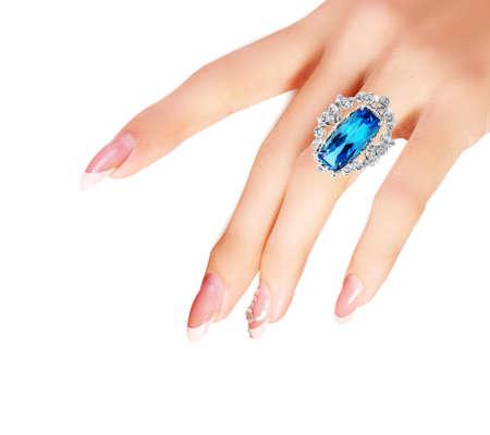 jewerly diamonds woman Stock Photo