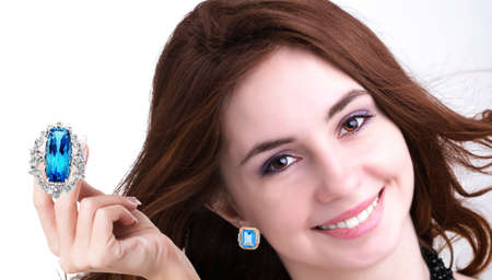 Beautiful smiling woman with jewerly