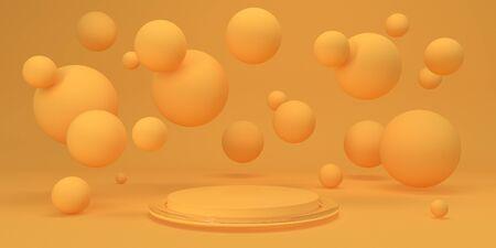 Piattaforma astratta per il design Piedistallo per display Rendering 3D di sfondo futuristico di concetto