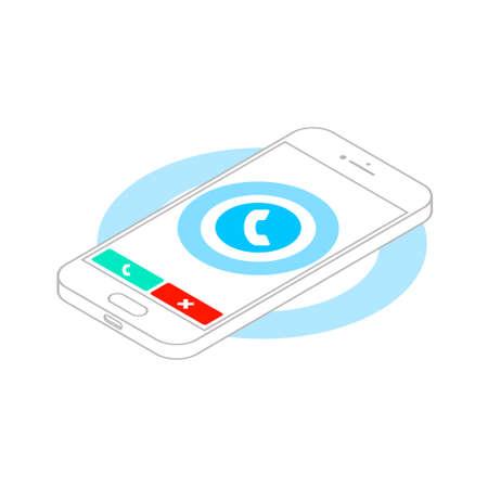 caller: Saller phone Illustration