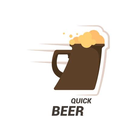 Beer hop  or badge design element  illustration