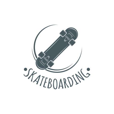 Skateboarding t-shirt design. Urban skating. Skateboard typography. Vector vintage illustration. Logo design.