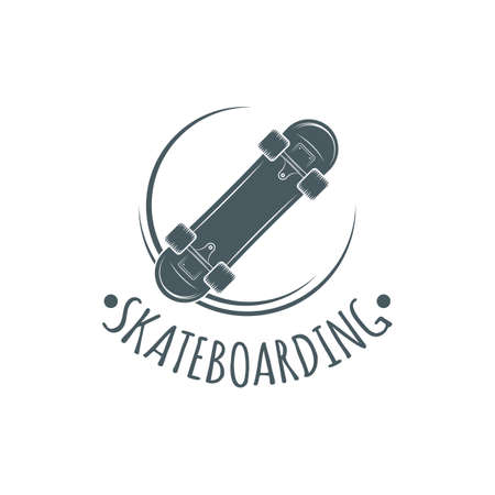 Skateboarding t-shirt design. Urban skating. Skateboard typography. Vector vintage illustration. Logo. Imagens