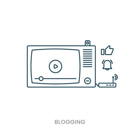 Template blogging infographics. Concept for website banners and promotional materials. TV. Modem.
